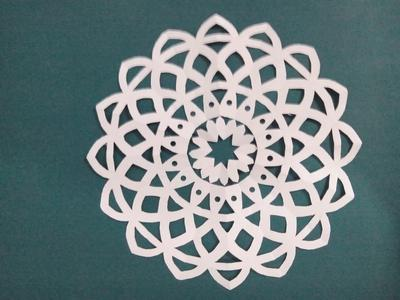 Fold and cut paper cutting