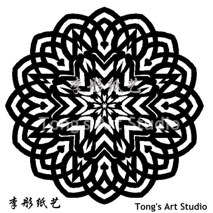Mandala Style Paper Cut Pattern-001