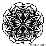 Mandala Style Paper Cut Pattern-004