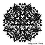 Mandala Style Paper Cut Pattern-003