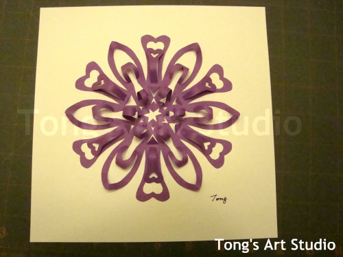 3D snowflake paper cutting