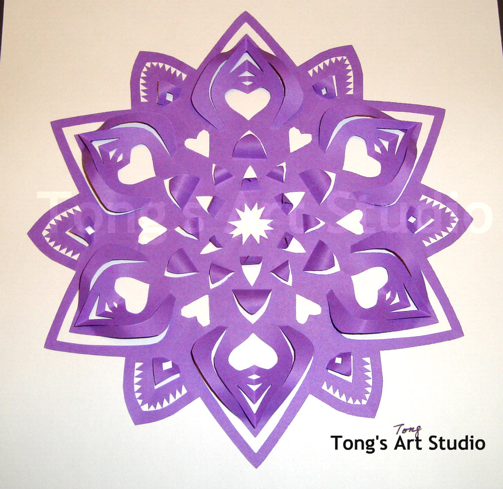 3D-Snowflake Paper Cutting Pattern