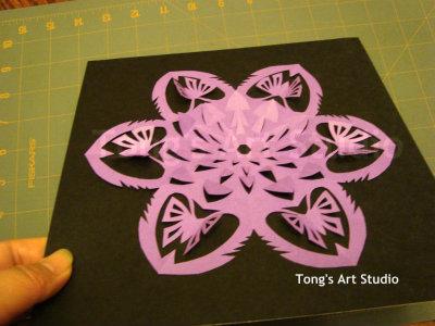 3d snowflake pattern