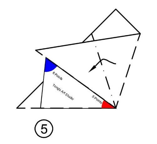 5 and 6 pointed fold and cut instruction