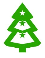 Christmas tree pattern