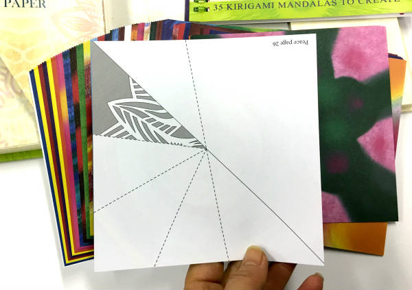 Kirigami Mandalas book and 100 sheets pattern paper