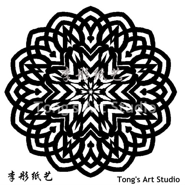 Mandala Style Paper Cutting Patterns: