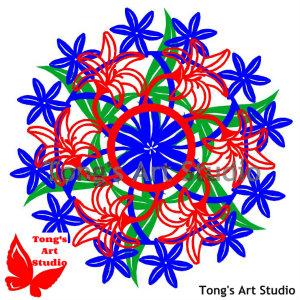 3 Layers Mandala Style Paper Cut Pattern-010