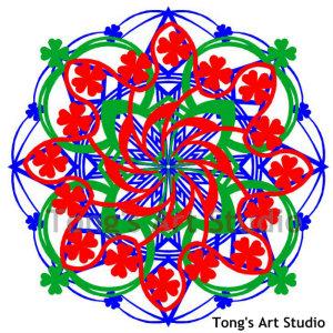 3 Layers Mandala Style Paper Cut Pattern-007