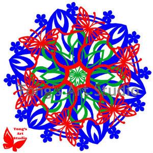3 Layers Mandala Style Paper Cut Pattern-009