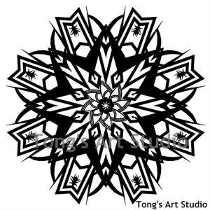 Mandala Style Paper Cut Pattern-005