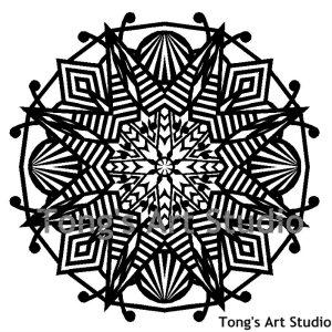Mandala Style Paper Cut Pattern-006