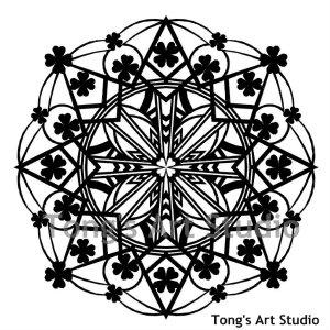 Mandala Style Paper Cut Pattern-007