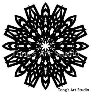 Mandala Style Paper Cut Pattern-002
