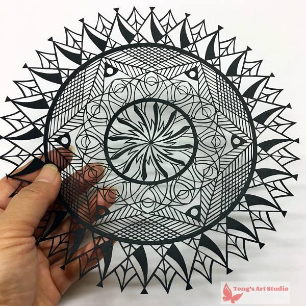 Mandala Style Paper Cutting Patterns