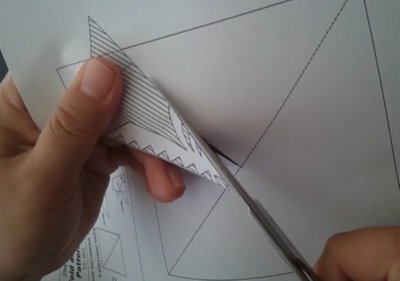 How to make a 5 sided fold and cut paper cutting