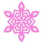 Snowflake paper cutting pattern
