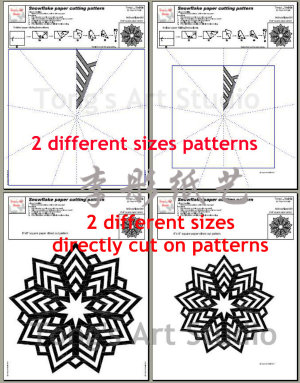 Six 9 points-snowflake Patterns samples