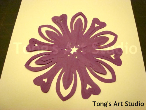 finished 3d snowflake cutting