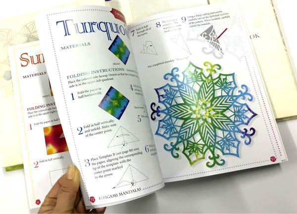 Kirigami Mandalas book and 100 sheets pattern paper