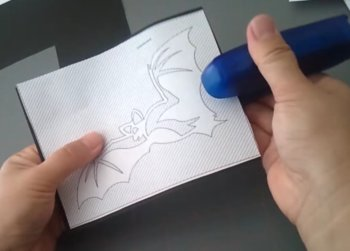 unfolded paper cutting